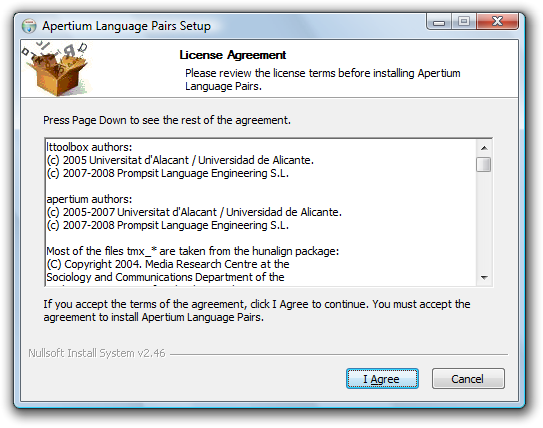 Apertium Language Pairs Installer 1.png